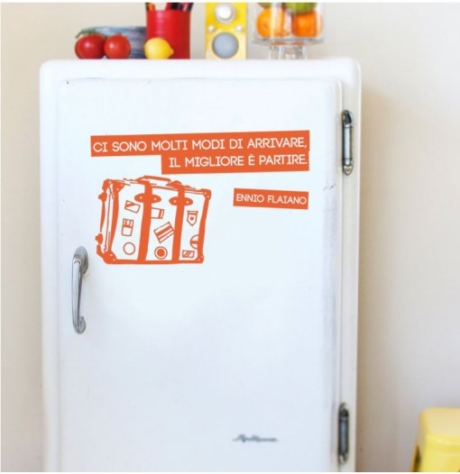 Decorare un frigo bianco: copertura parziale!