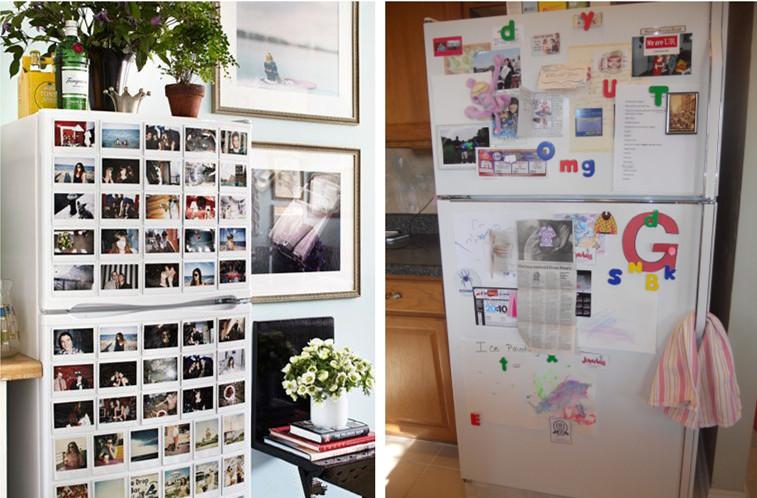 Decorare un frigo bianco: magneti e foto!